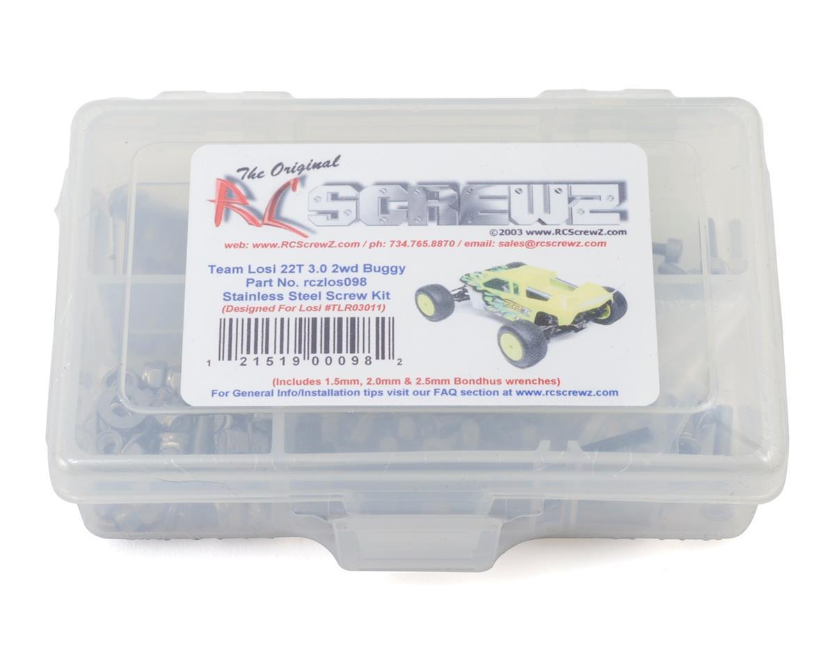RC Screwz Team Losi 22T 3.0 2wd Stainless Steel Screw Kit