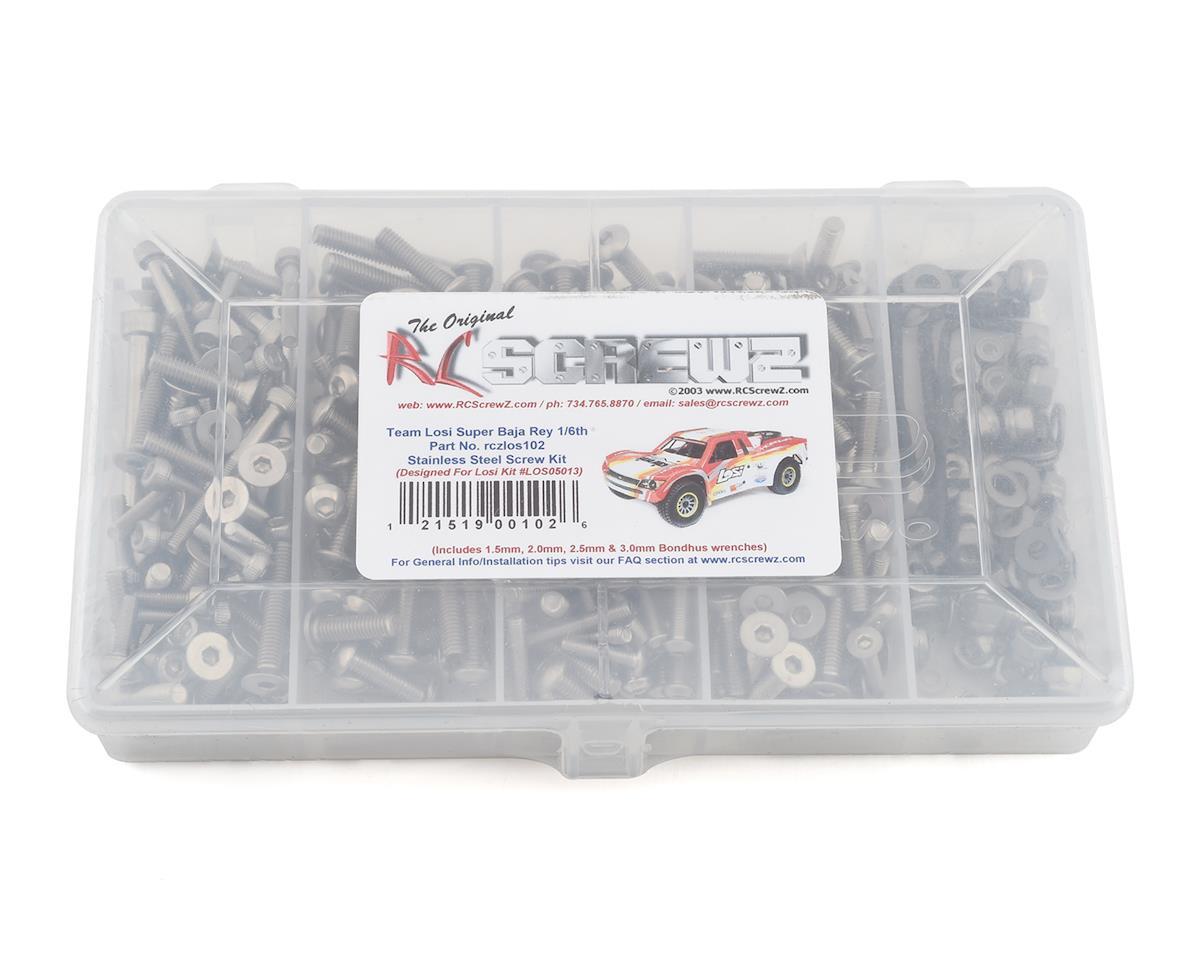 RC Screwz Losi Super Baja Rey 1/6th Stainless Screw Kit RCZLOS102
