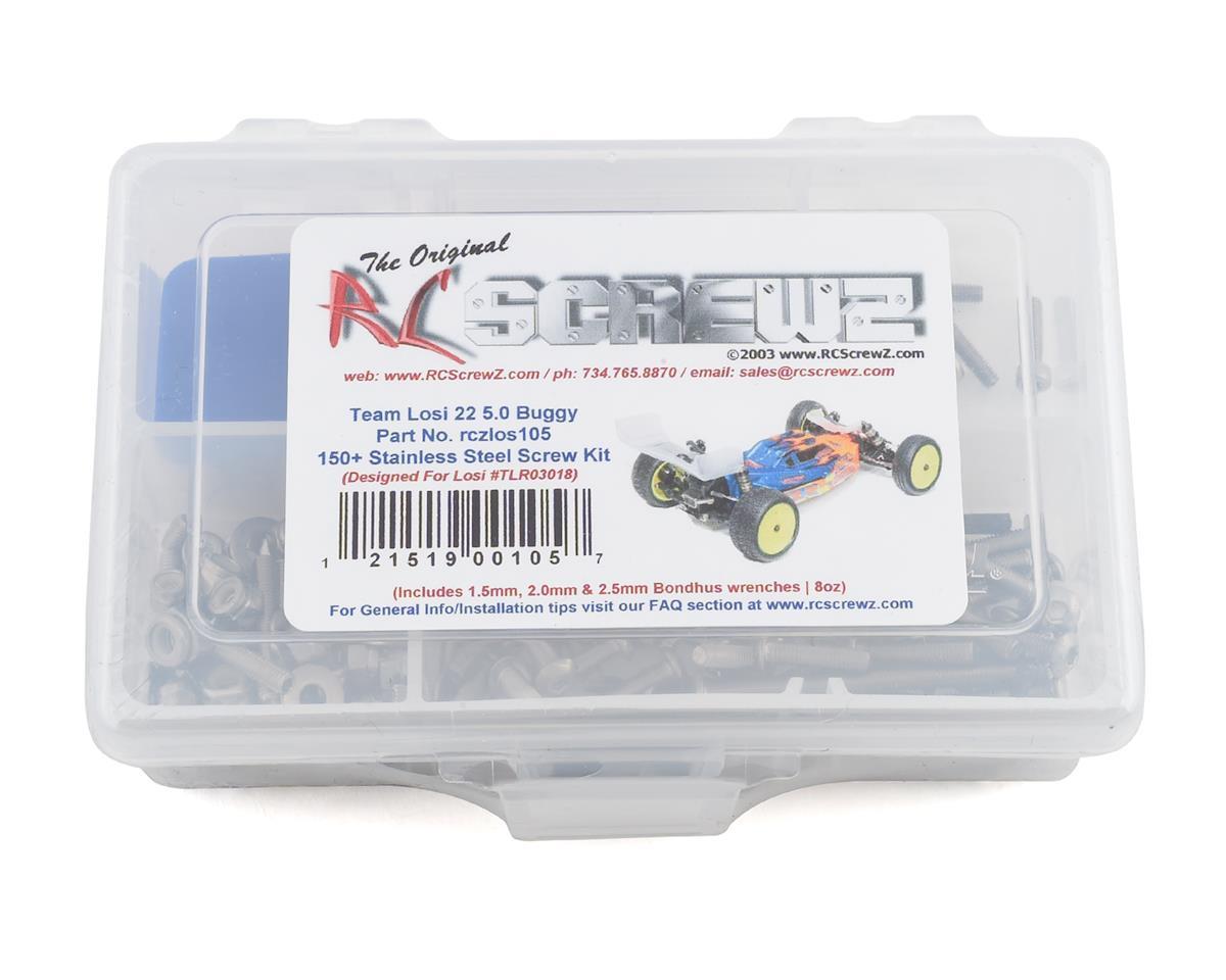 RC Screwz Team Losi 22 5.0 AC/DC/SR Stainless Steel Screw Kit