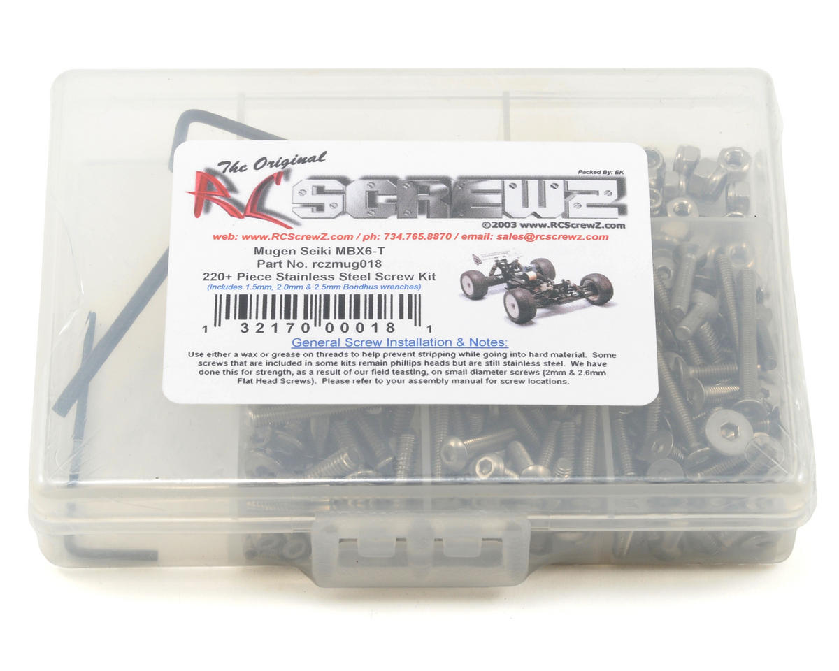 RC Screwz Mugen MBX6T Stainless Steel Screw Kit