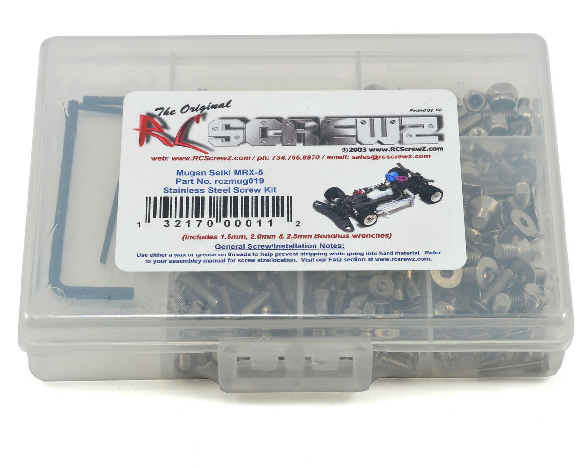 RC Screwz Mugen Seiki MRX5 MRX-5 Stainless Steel Screw Kit
