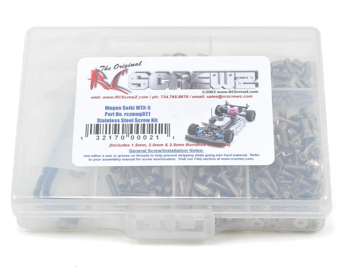 RC Screwz Mugen Seiki MTX-5 Stainless Steel Screw Kit