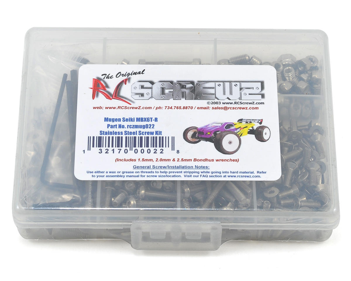 RC Screwz Mugen Seiki MBX6T-R Stainless Steel Screw Kit