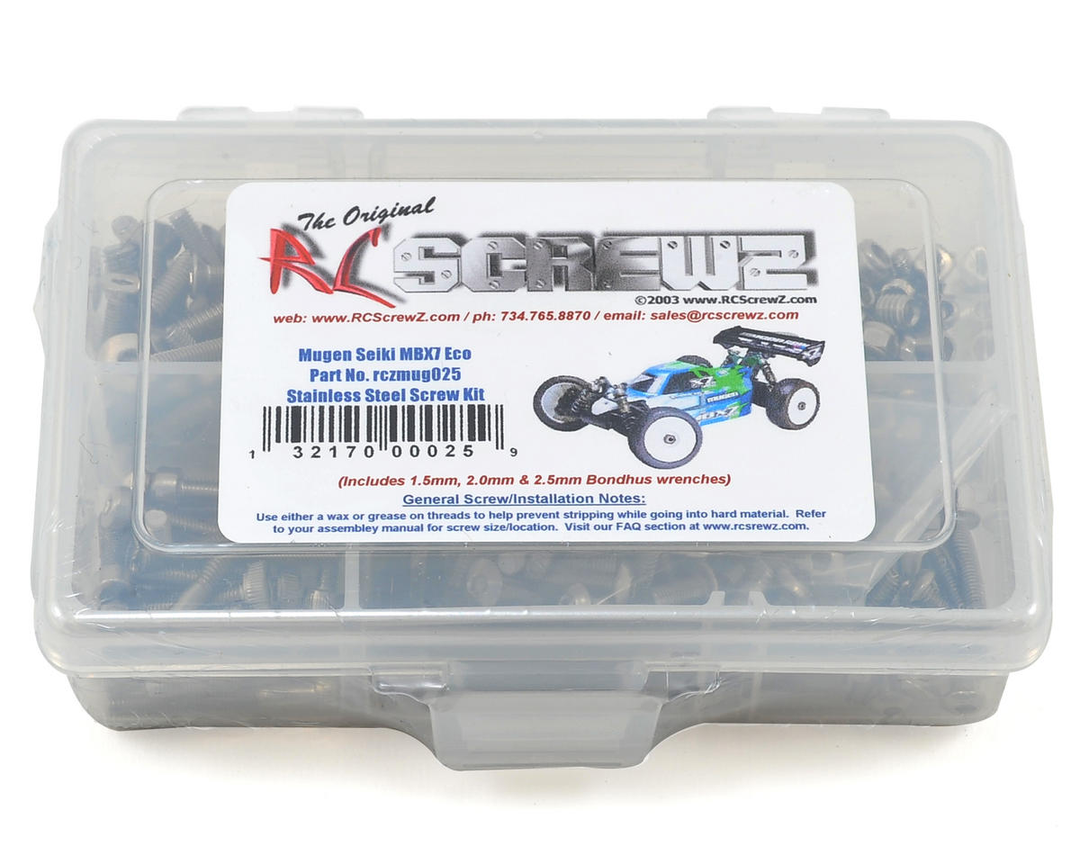 Mugen MBX7 ECO Stainless Steel Screw Kit by RC Screwz