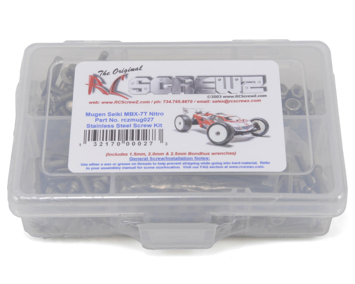 RC Screwz Mugen Seiki MBX7T Nitro Stainless Steel Screw Kit