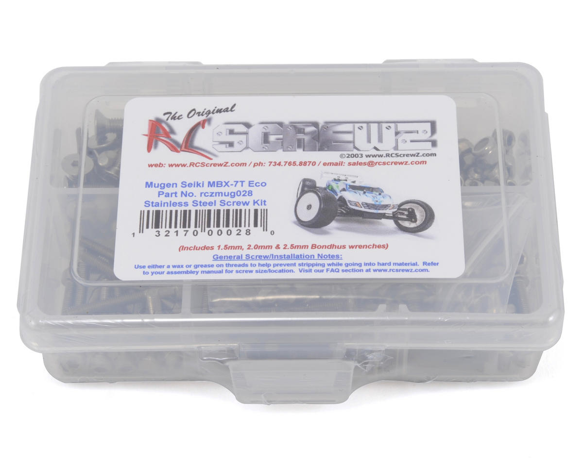 Mugen Seiki MBX7T Eco Stainless Steel Screw Kit by RC Screwz