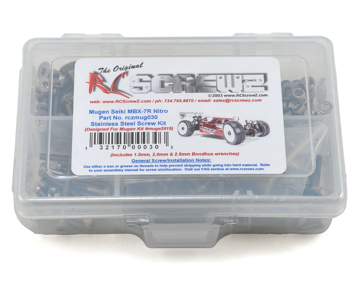 RC Screwz Mugen MBX7R Stainless Steel Screw Kit