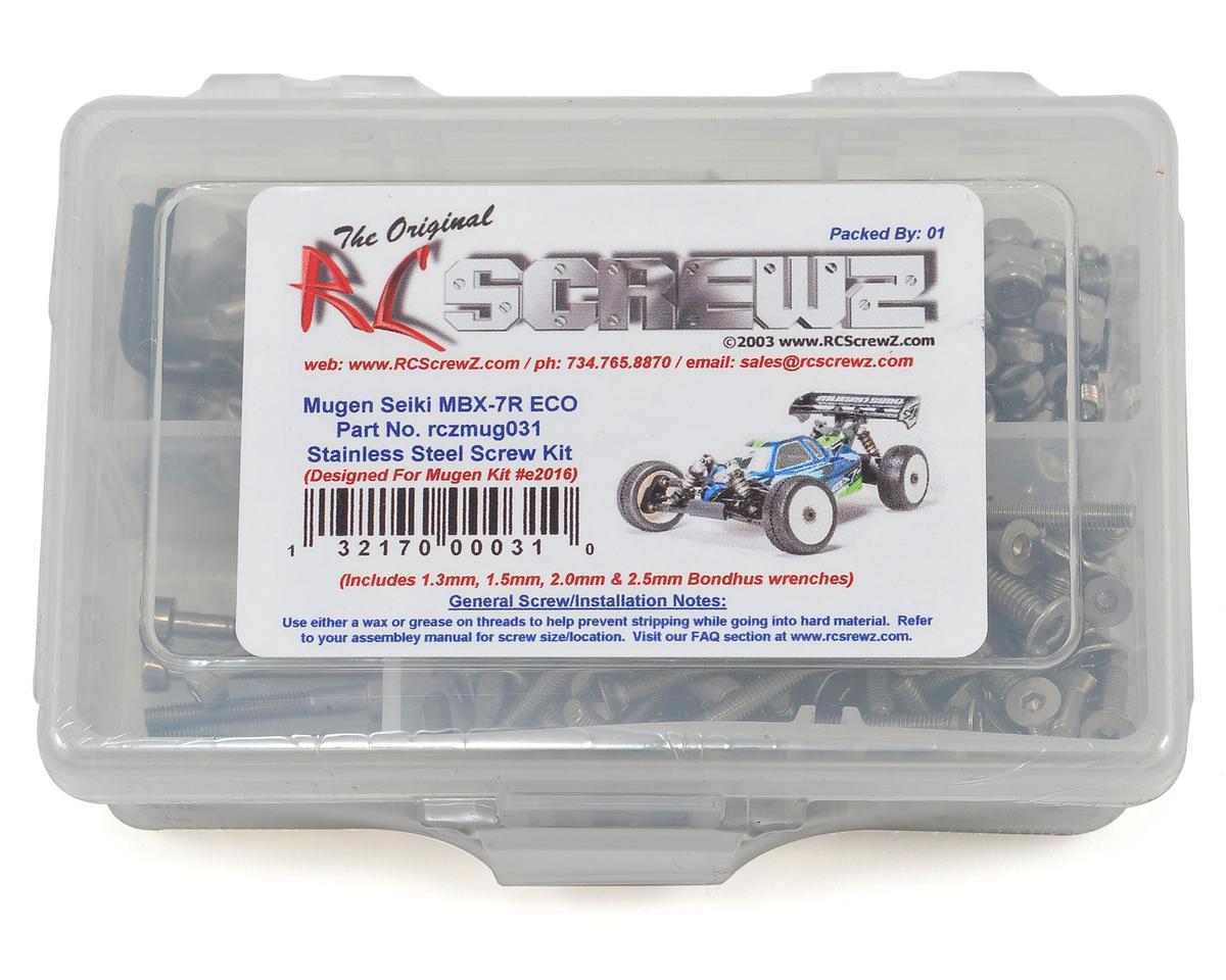 RC Screwz Mugen Seiki MBX-7R ECO Stainless Screw Kit
