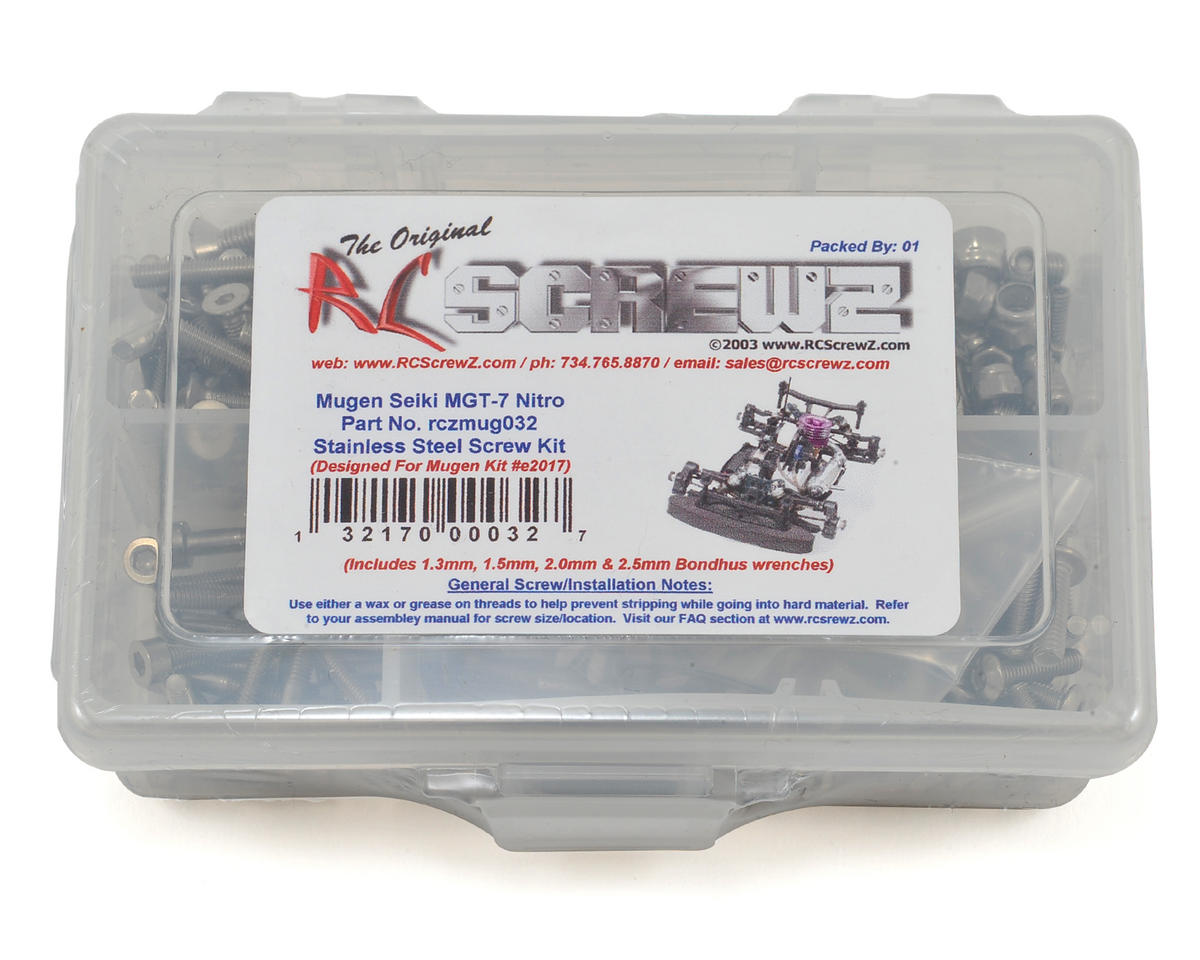 RC Screwz Mugen Seiki MGT7 Nitro Stainless Screw Kit