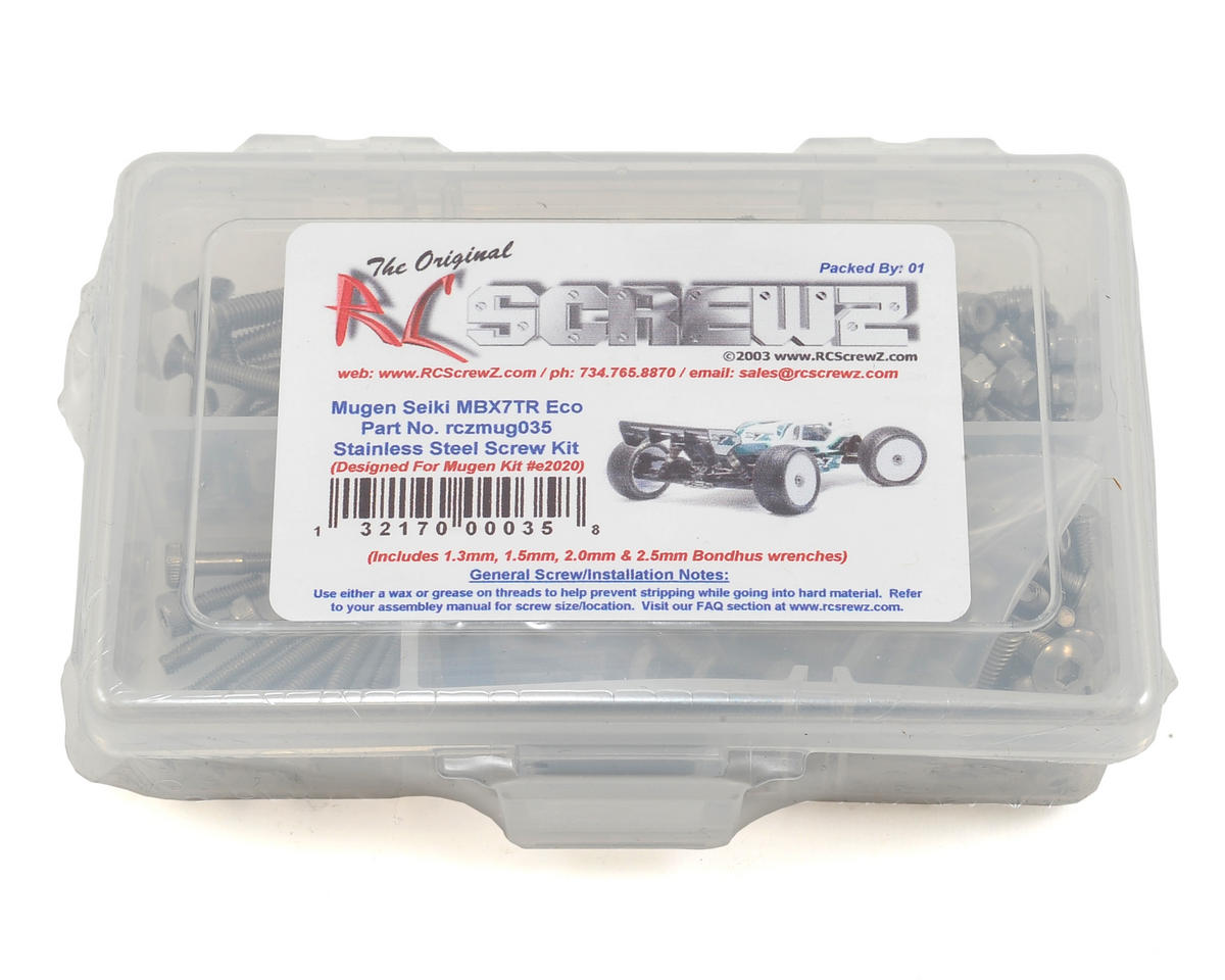 RC Screwz Mugen MBX7TR ECO 1/8th Truggy Stainless Screw Kit