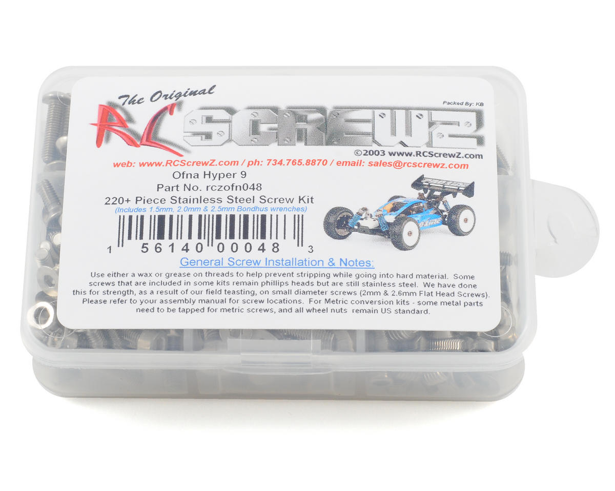 RC Screwz Hyper 9 Stainless Steel Screw Kit (HoBao Nitro)