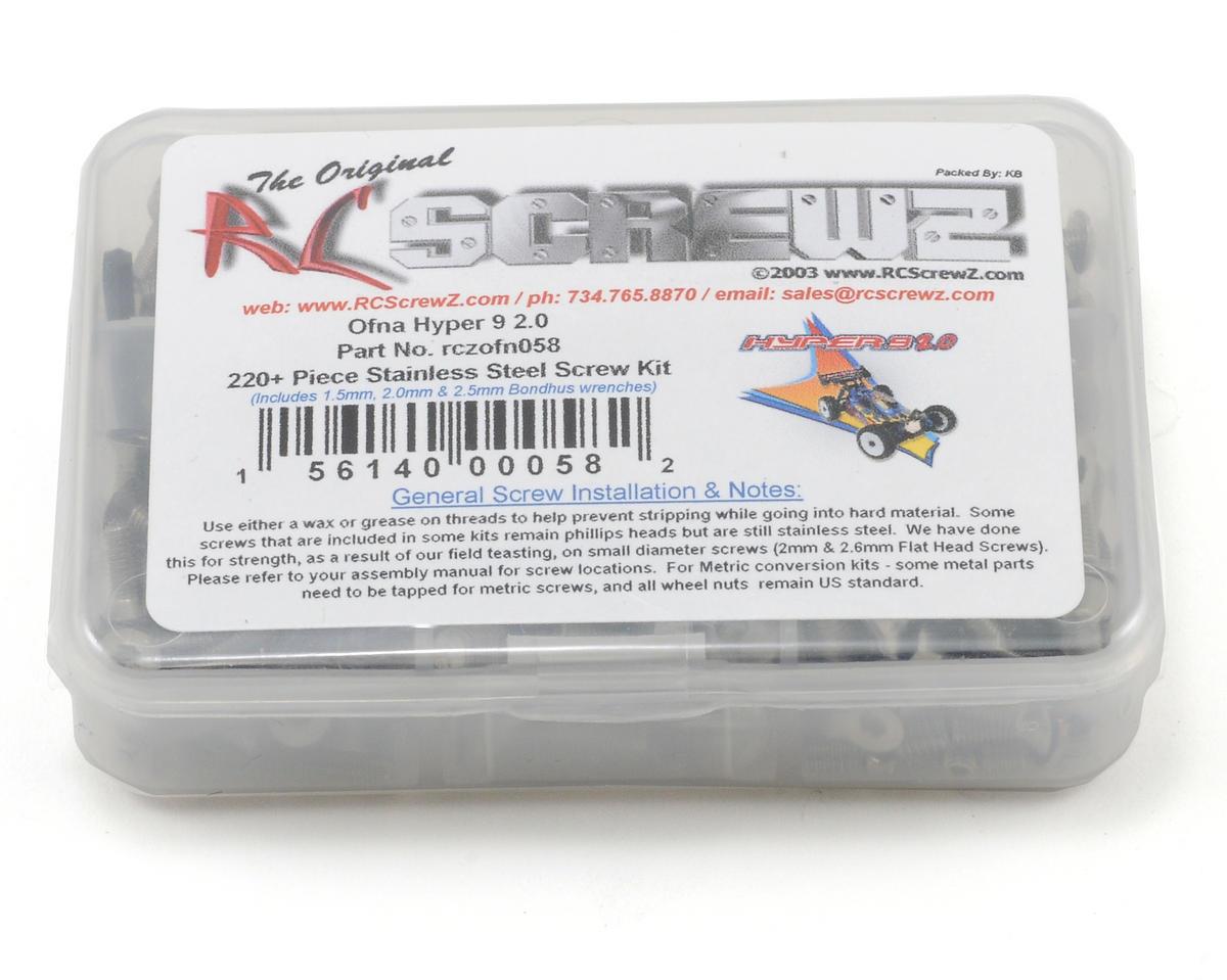 RC Screwz OFNA Hyper 9 V2.0 Stainless Steel Screw Kit