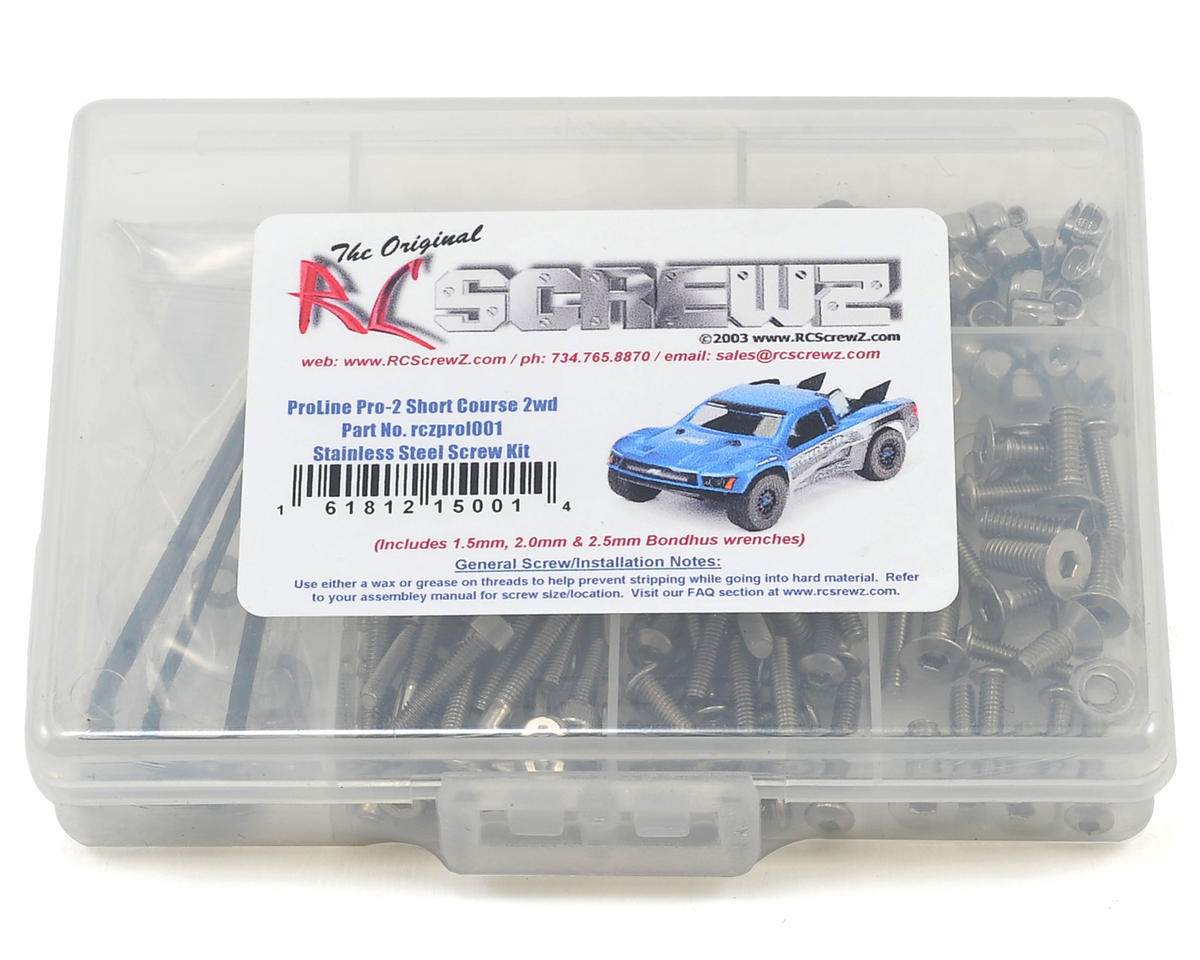 RC Screwz Pro-Line Pro-2 Short Course Stainless Steel Screw Kit