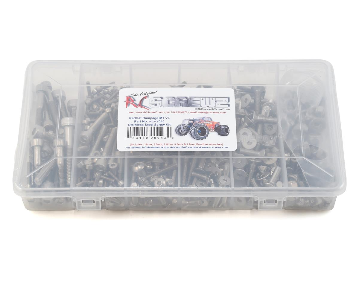 RC Screwz RedCat Racing Rampage MT V3 Stainless Steel Screw Kit
