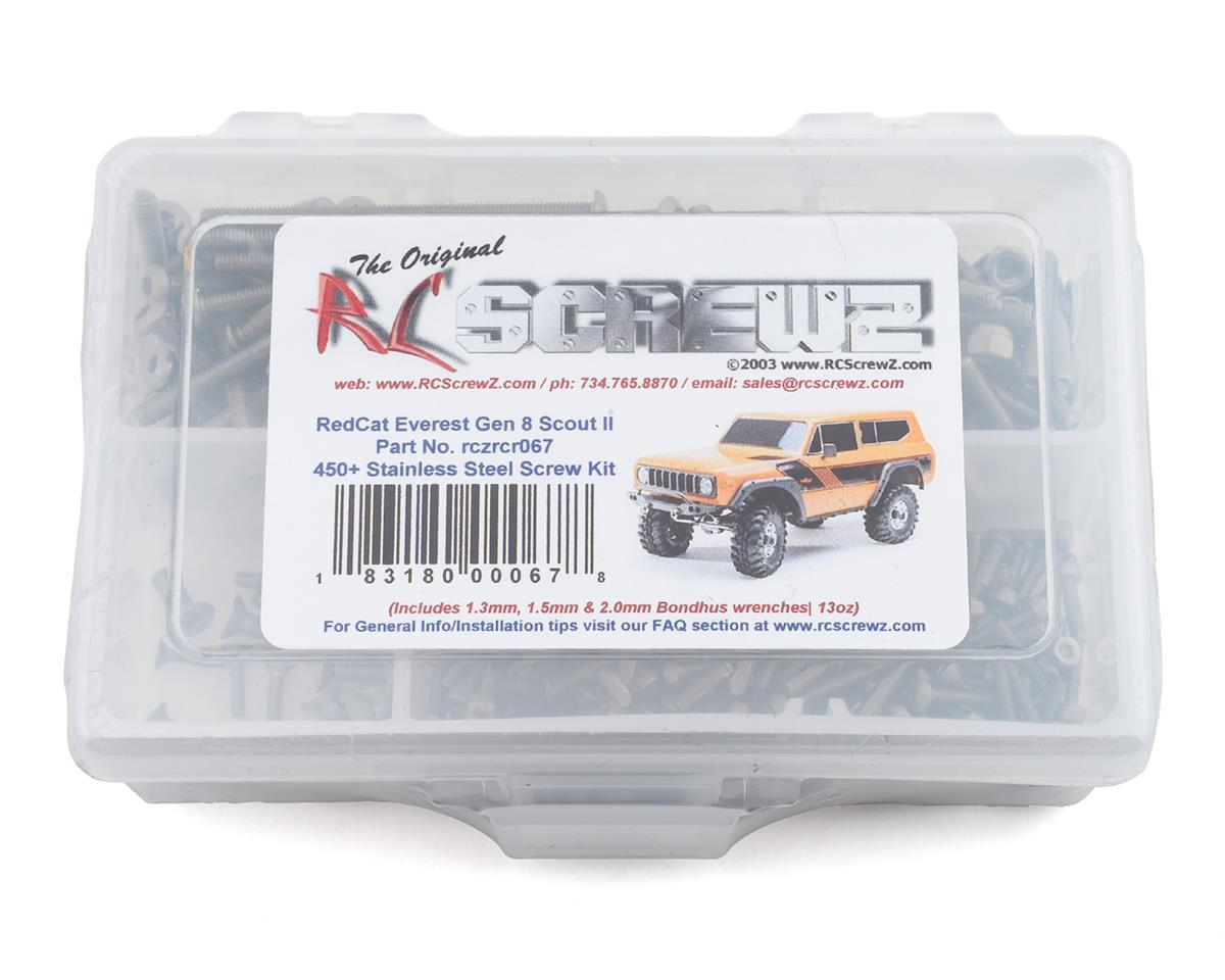 RC Screwz Redcat Racing Gen 8 Scout Stainless Steel Screw Kit | alsopurchased