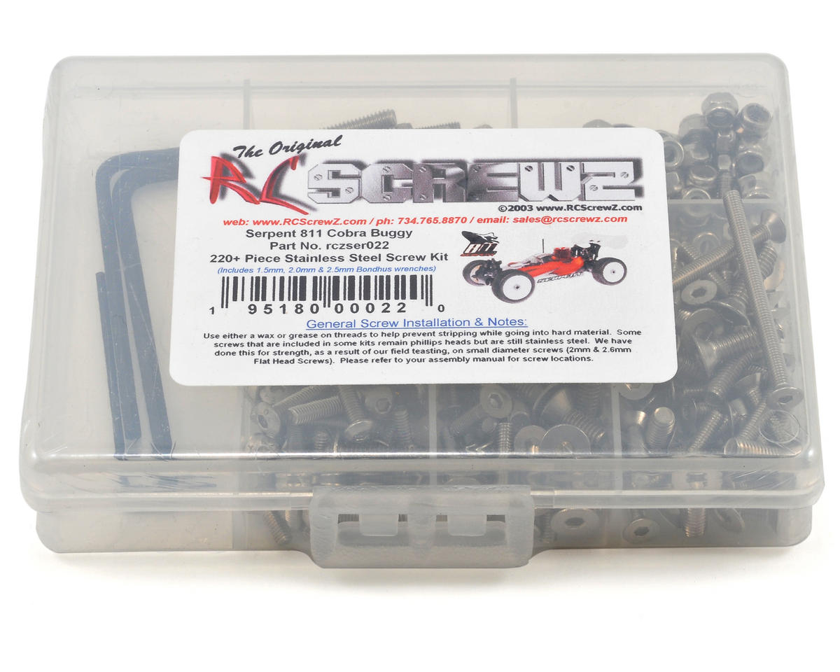 RC Screwz Serpent 811 Cobra 1/8 Buggy Stainless Steel Screw Kit