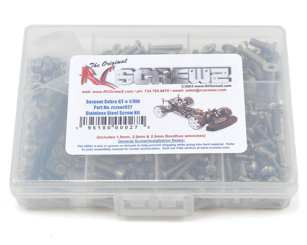 RC Screwz Serpent Cobra GT-e Stainless Steel Screw Kit
