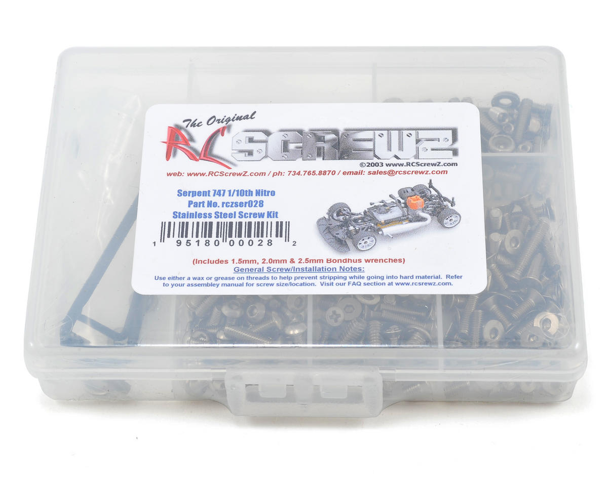 RC Screwz Serpent 747 Nitro Stainless Steel Screw Kit