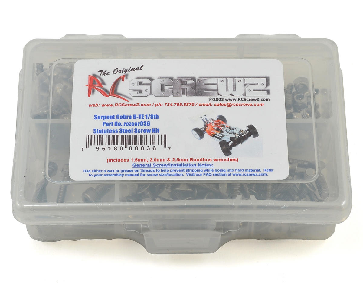 RC Screwz Serpent Cobra-B TE Stainless Steel Screw Kit