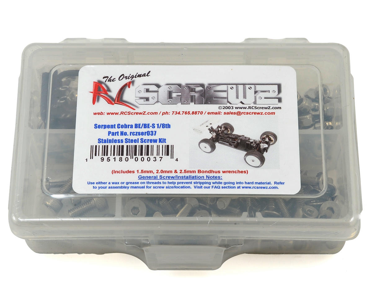 RC Screwz Serpent Cobra 811-Be Stainless Steel Screw Kit