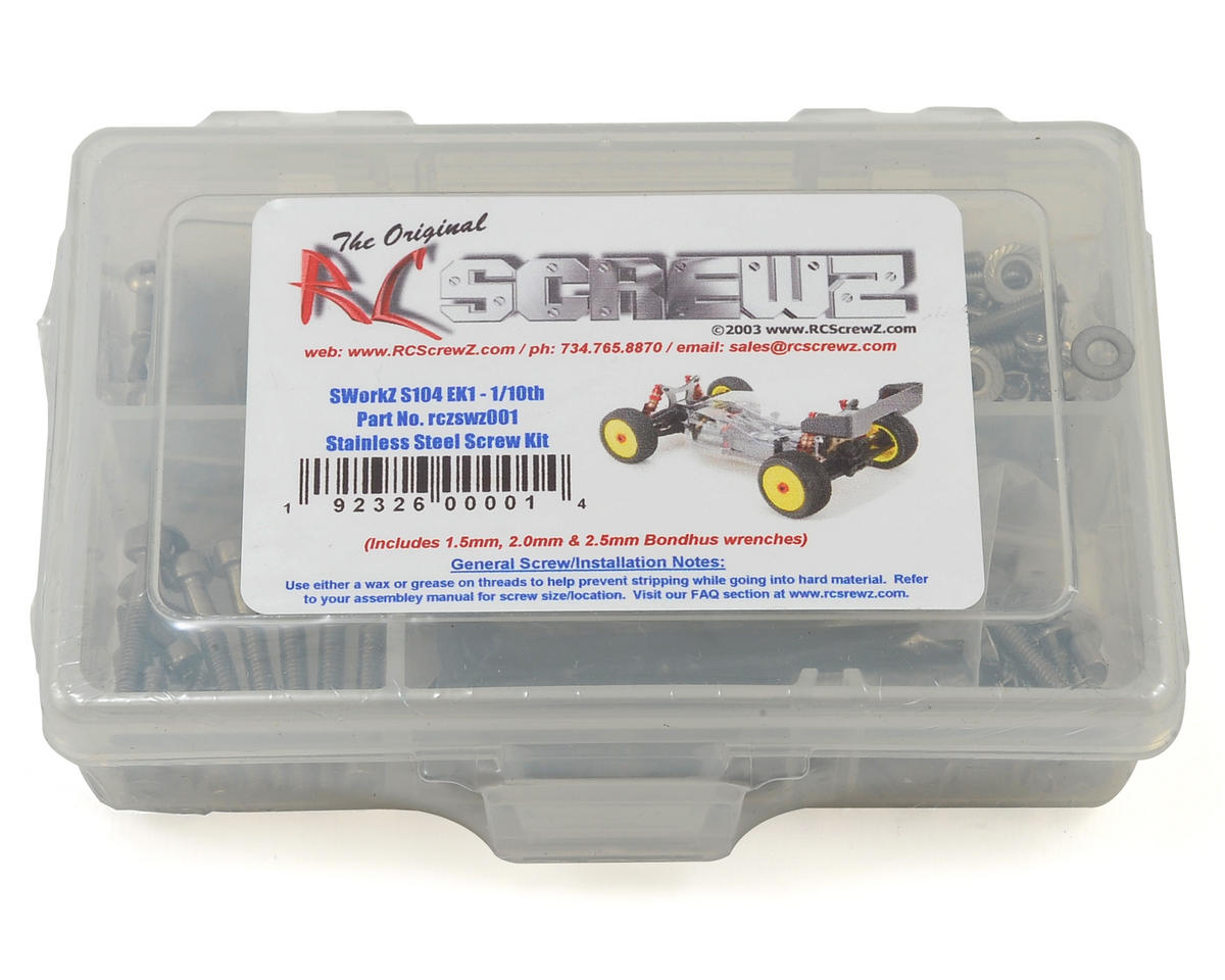 SWorkz S104 EK-1 1/10 Buggy Stainless Steel Screw Kit by RC Screwz