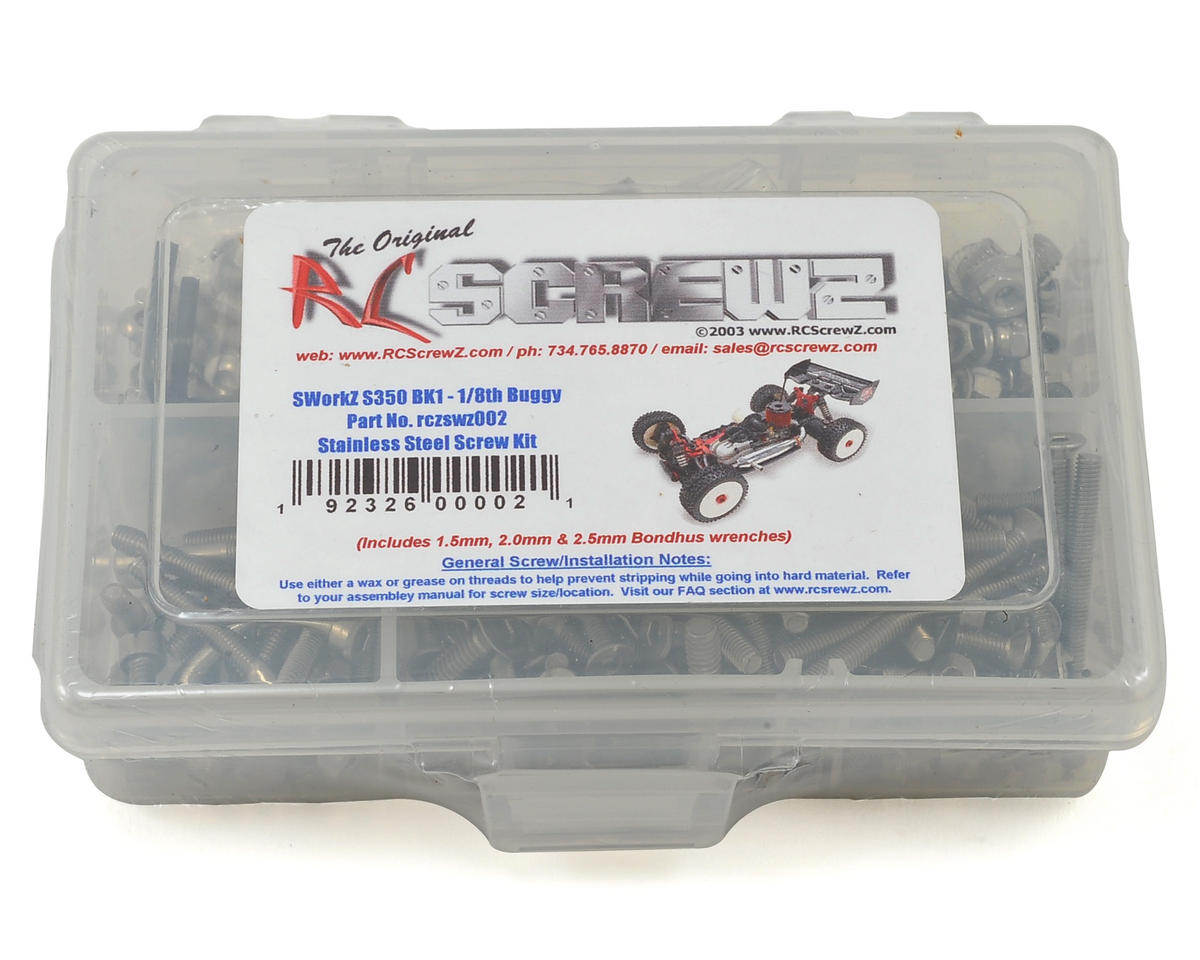 RC Screwz SWorkz S350 BK1 1/8 Buggy Stainless Steel Screw Kit