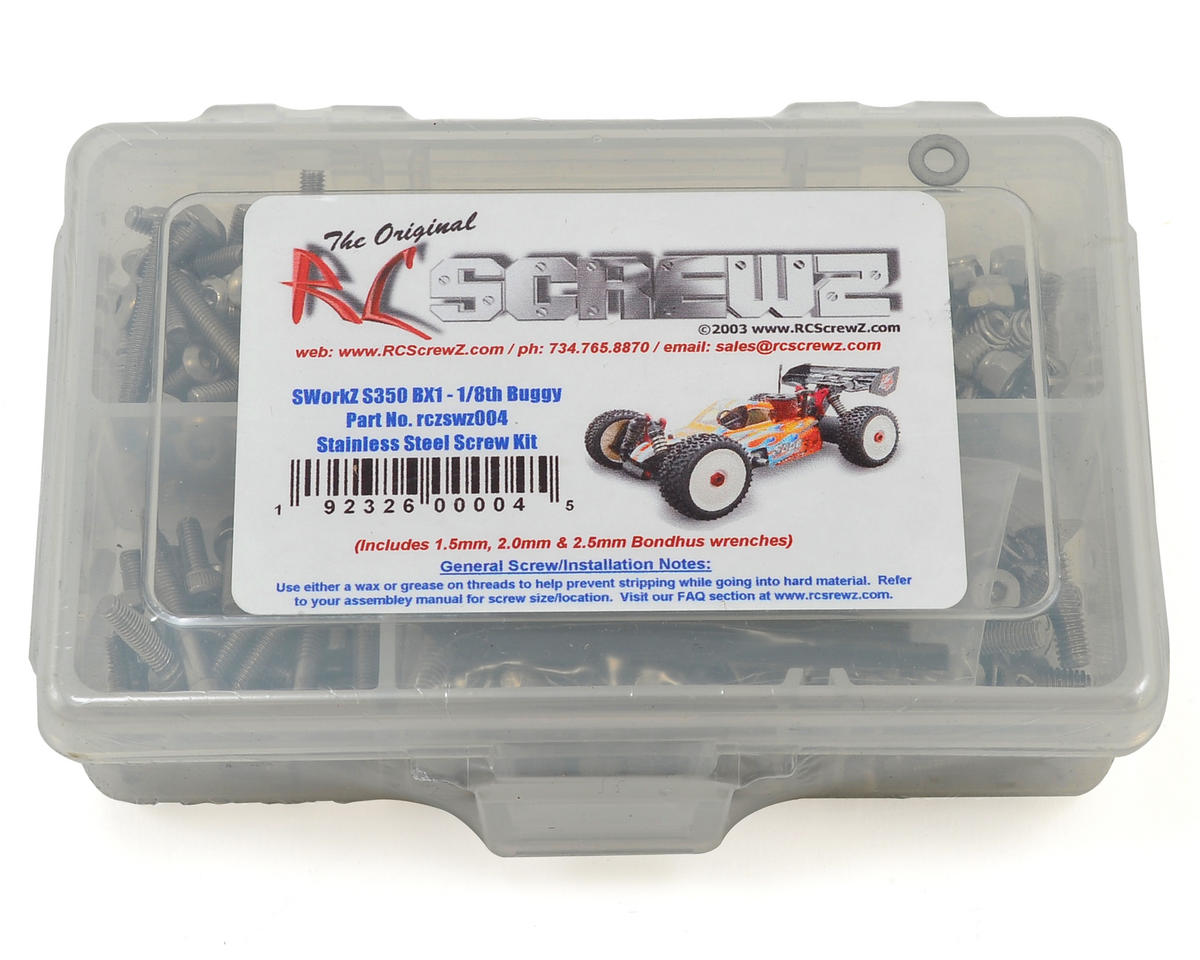 RC Screwz SWorkz S350 BX1 1/8 Buggy Stainless Steel Screw Kit