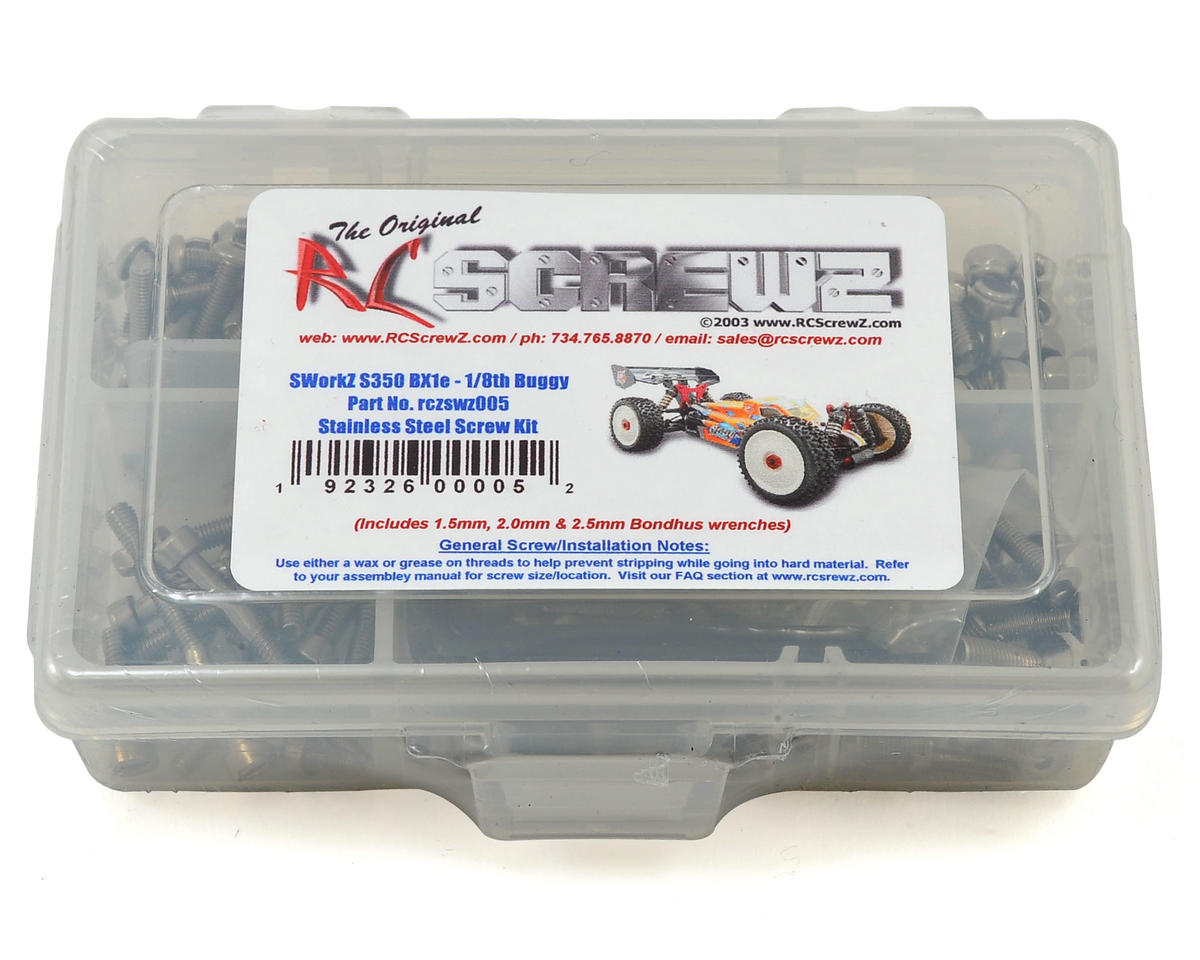 RC Screwz Sworkz S350 BX1e 1/8 Buggy Stainless Steel Screw Kit