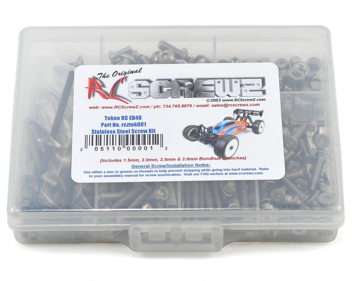RC Screwz Tekno RC EB48 1/8 Buggy Stainless Steel Screw Kit | relatedproducts