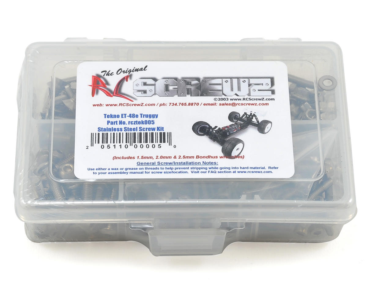 Tekno RC ET48 E-Truggy Stainless Steel Screw Kit by RC Screwz