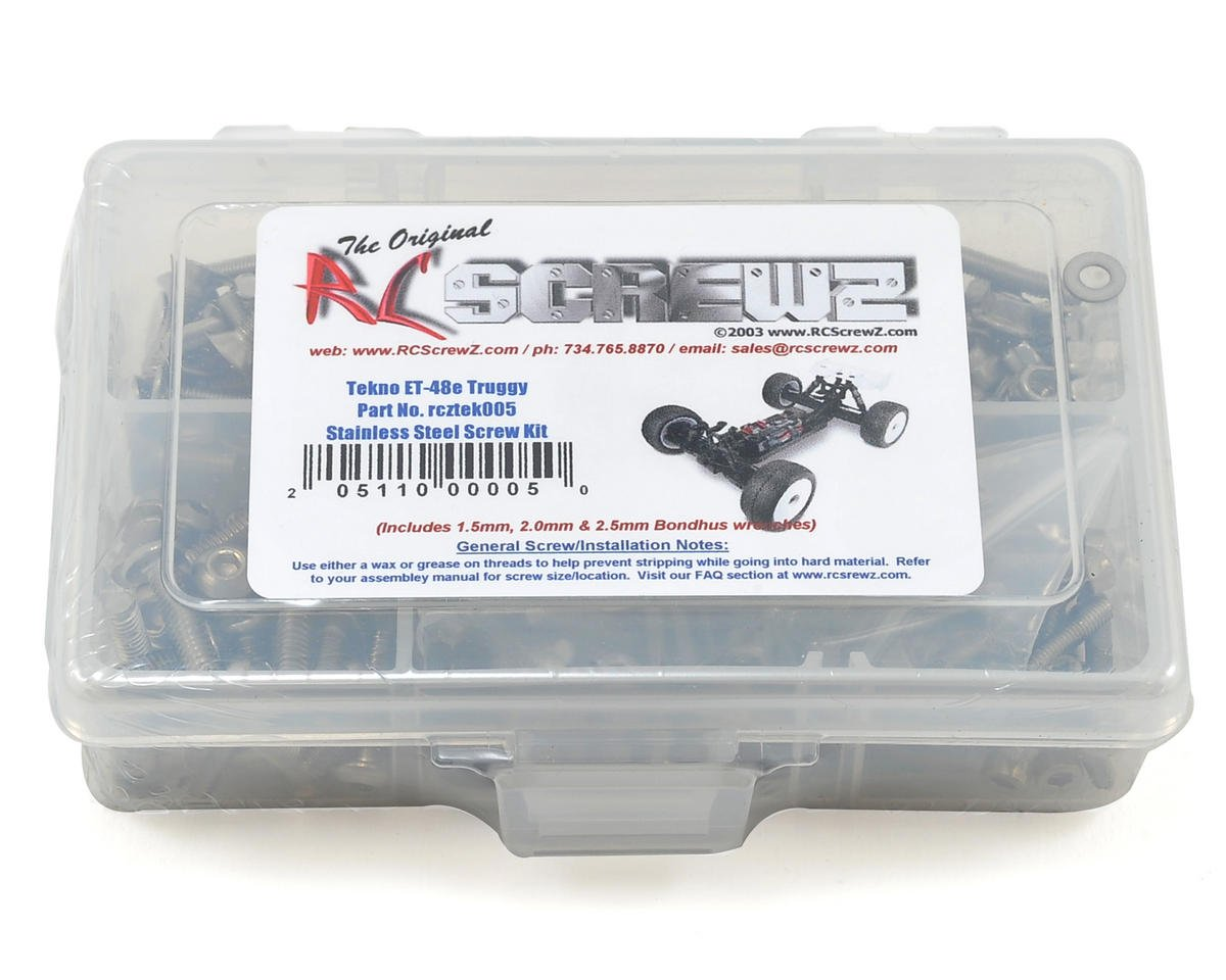 RC Screwz Tekno RC ET48 E-Truggy Stainless Steel Screw Kit
