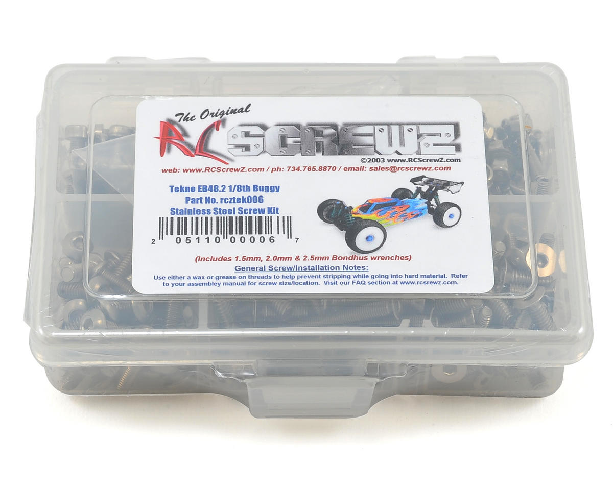 RC Screwz Tekno RC EB48.2 1/8th Buggy Stainless Steel Screw Kit