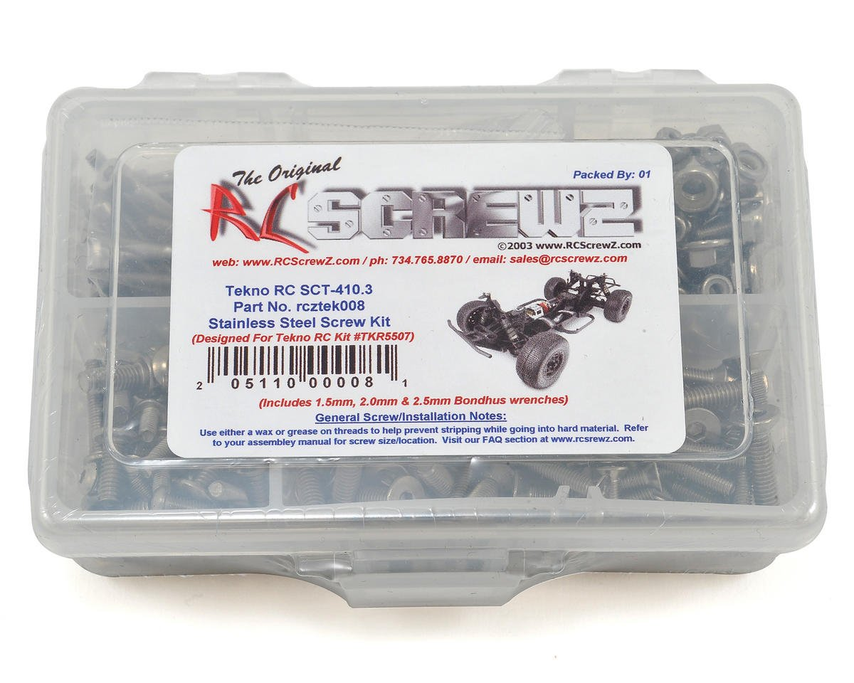 Tekno SCT410.3 Stainless Screw Kit by RC Screwz