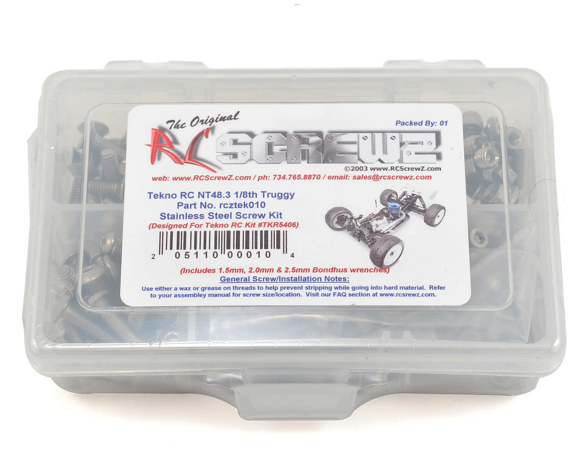 RC Screwz Tekno NT48.3 Truggy Stainless Screw Kit