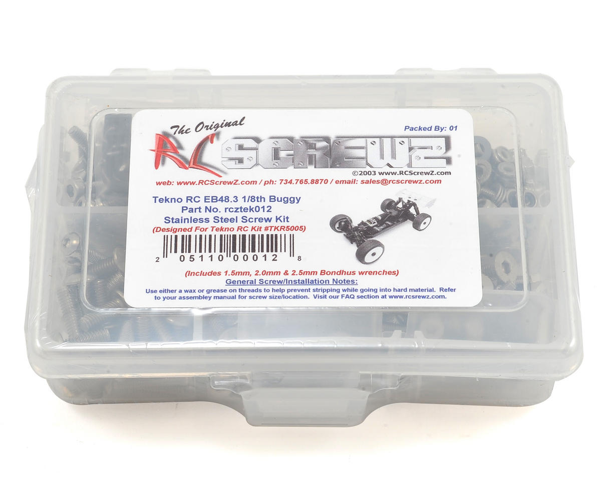 Tekno EB48.3 Buggy Stainless Screw Kit by RC Screwz