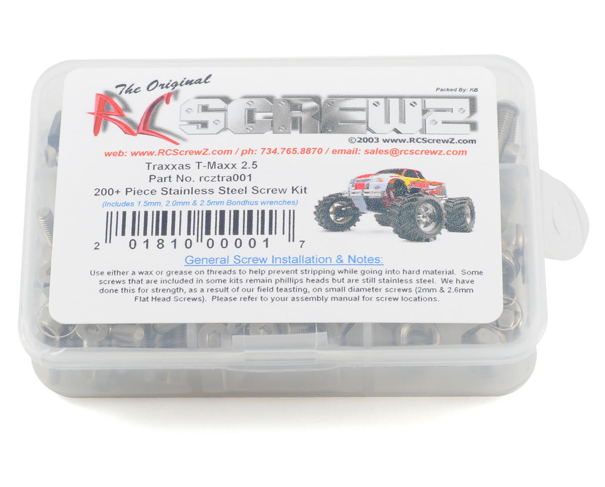 Traxxas T-Maxx 2.5 Stainless Steel Screw Kit by RC Screwz