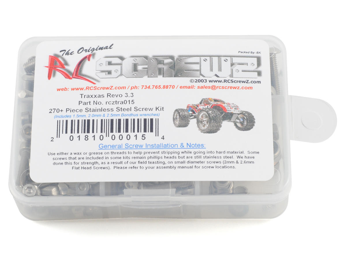 RC Screwz Traxxas Revo 3.3 Stainless Steel Screw Kit