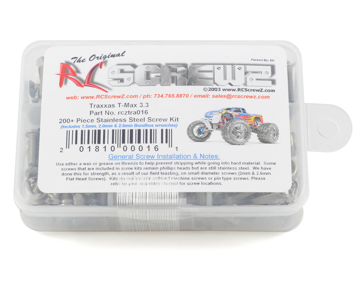 RC Screwz Traxxas T-Maxx 3.3 Stainless Steel Screw Kit