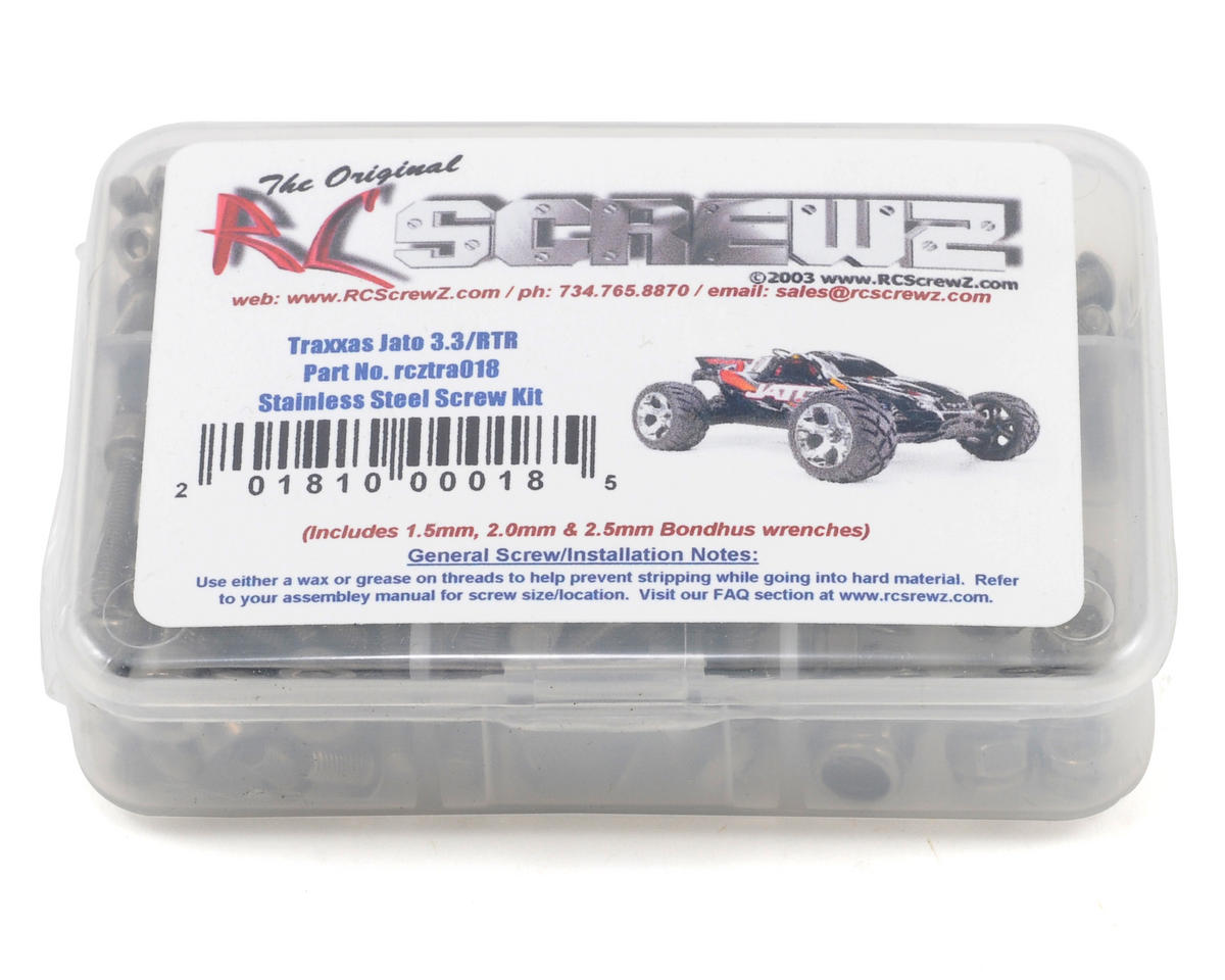 Traxxas Jato 3.3 Stainless Steel Screw Kit by RC Screwz