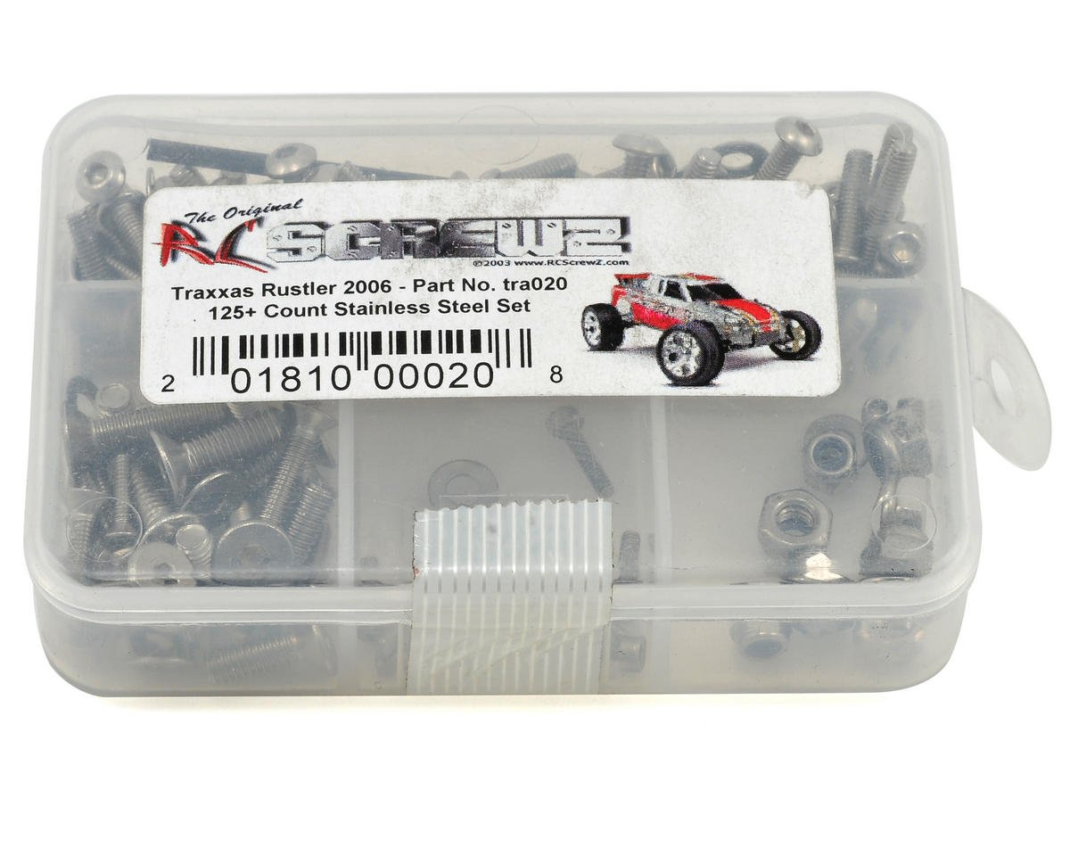 Traxxas Rustler XL5 Stainless Steel Screw Kit by RC Screwz