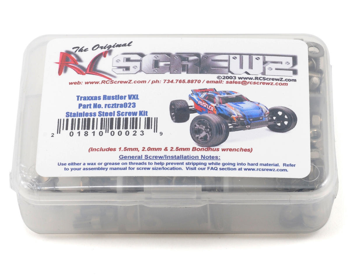 Traxxas Rustler VXL Stainless Steel Screw Set by RC Screwz