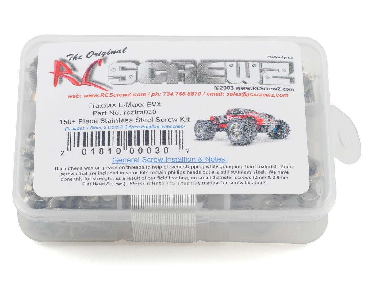 RC Screwz Traxxas E-Maxx EVX Stainless Steel Screw Kit