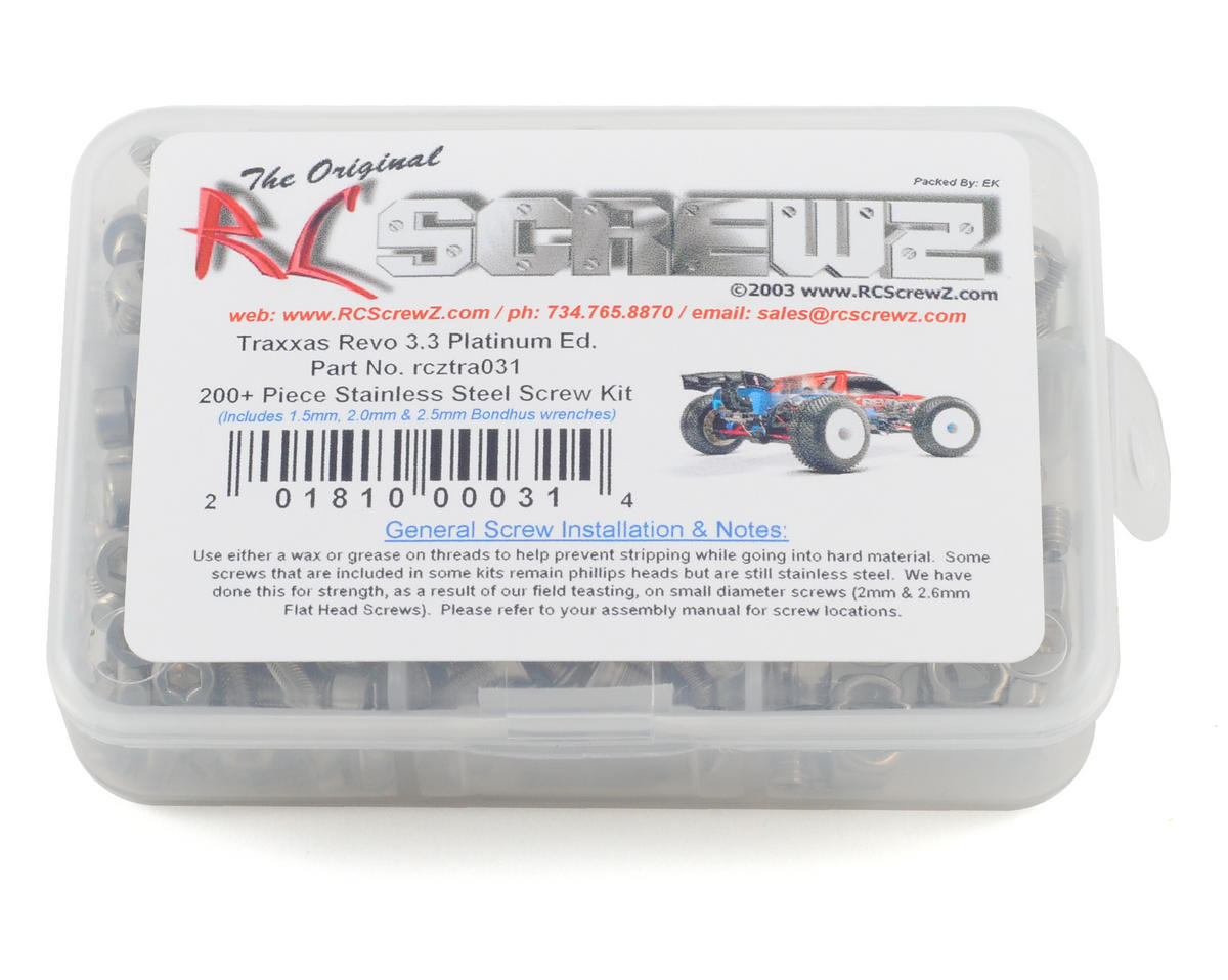RC Screwz Traxxas Revo Platinum Edition Stainless Steel Screw Kit