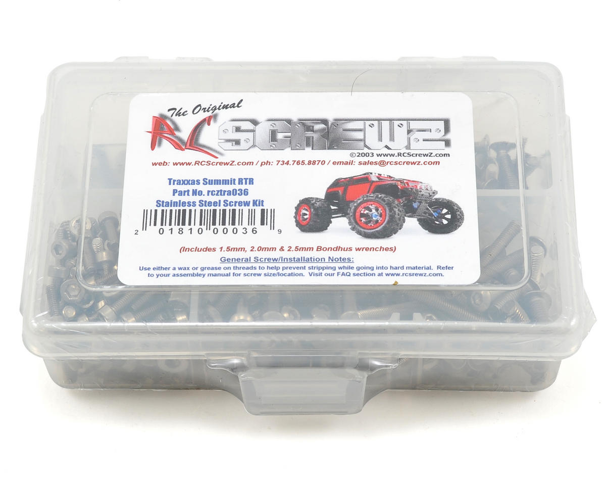 RC Screwz Traxxas Summit Stainless Steel Screw Kit