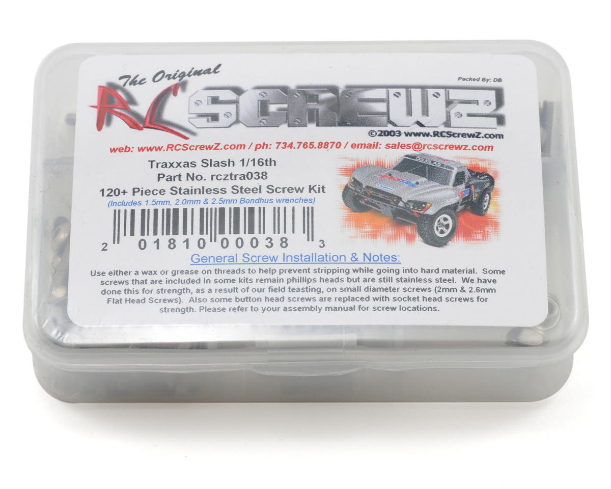 RC Screwz Traxxas 1/16 Slash Screw Kit