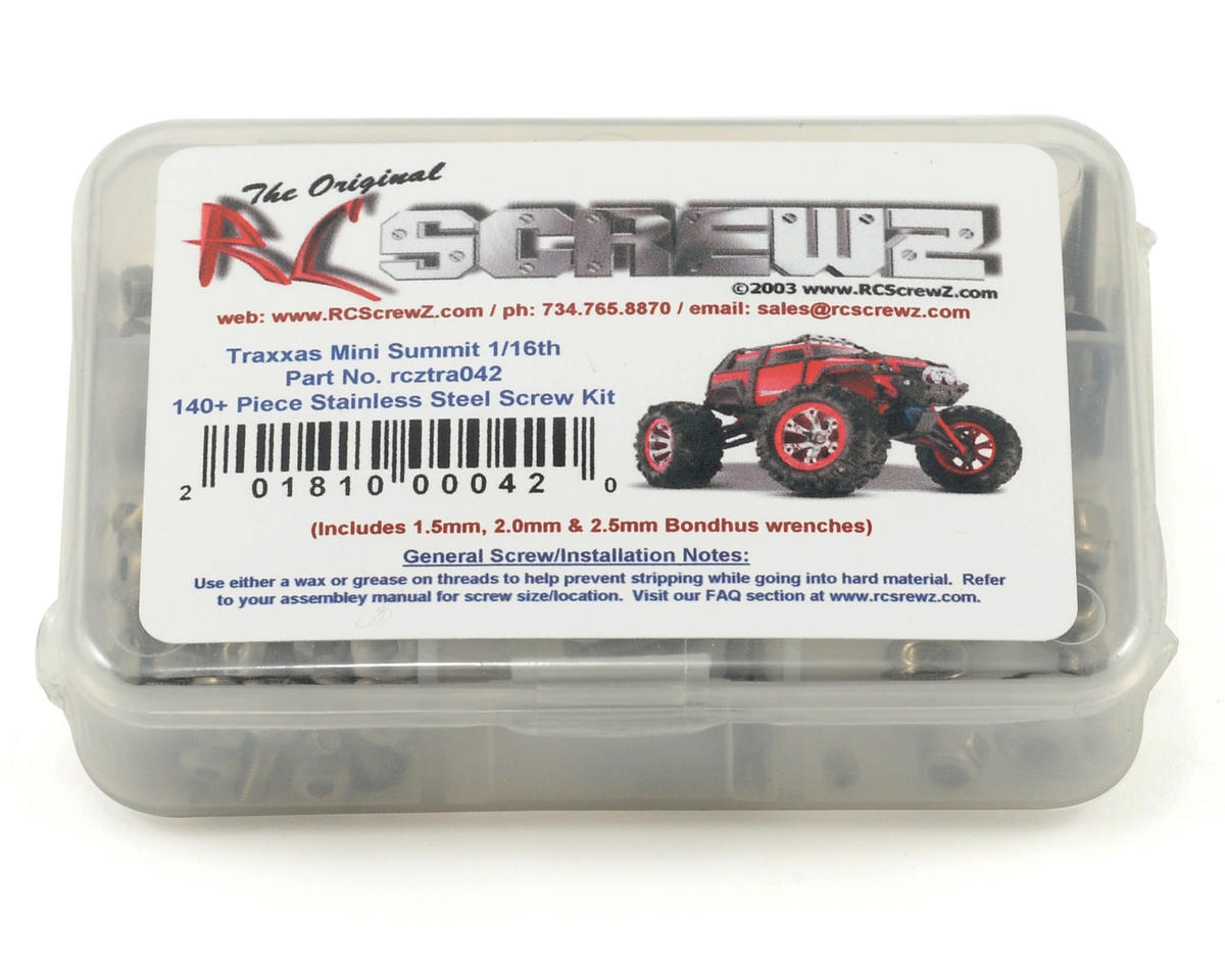 RC Screwz Traxxas Mini Summit 1/16th Stainless Steel Screw Kit