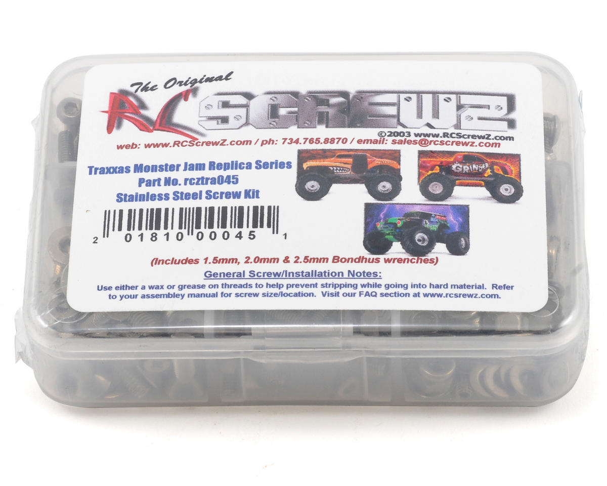 RC Screwz Traxxas Monster Jam Series Stainless Steel Screw Kit