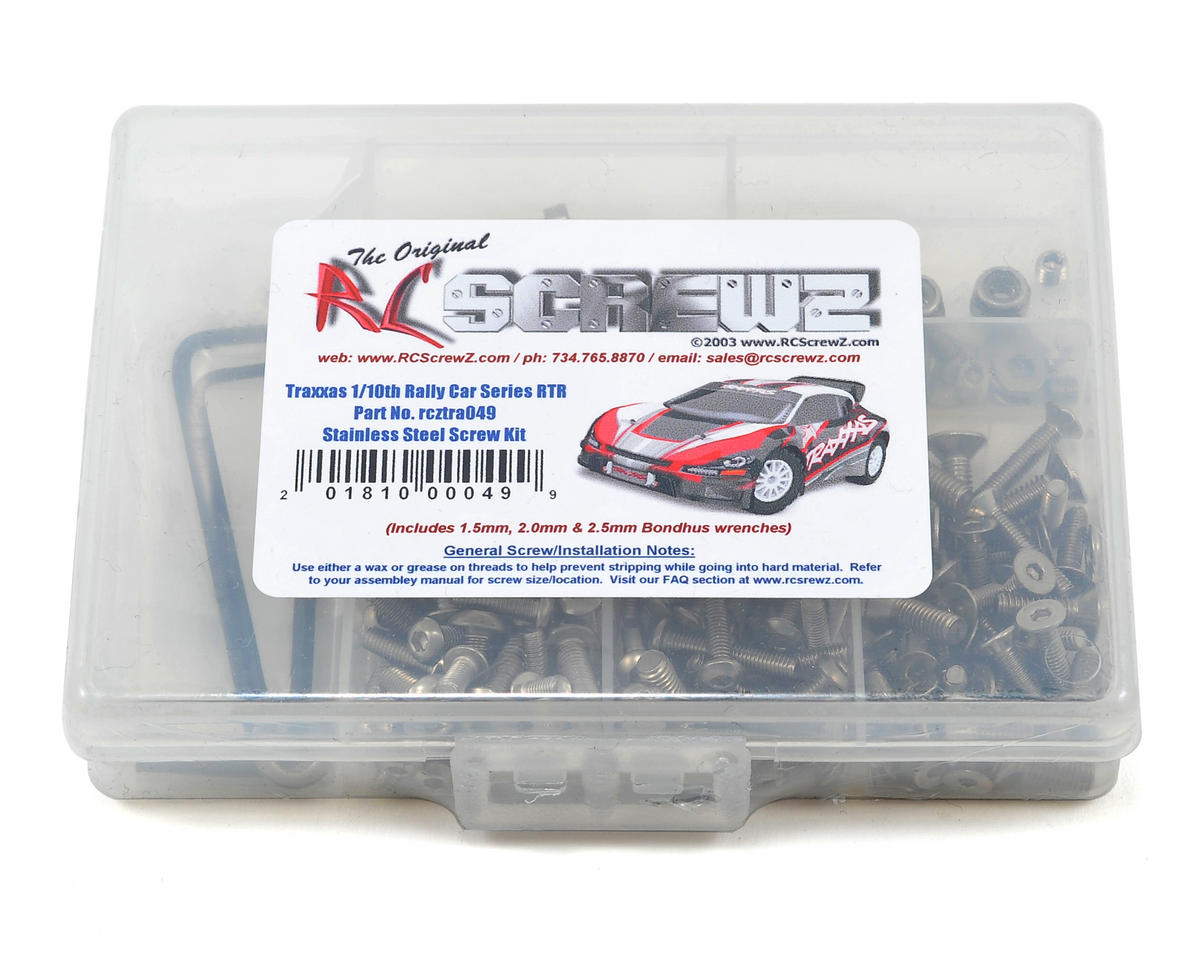 RC Screwz Traxxas 1/10 Rally Racer Stainless Steel Screw Kit