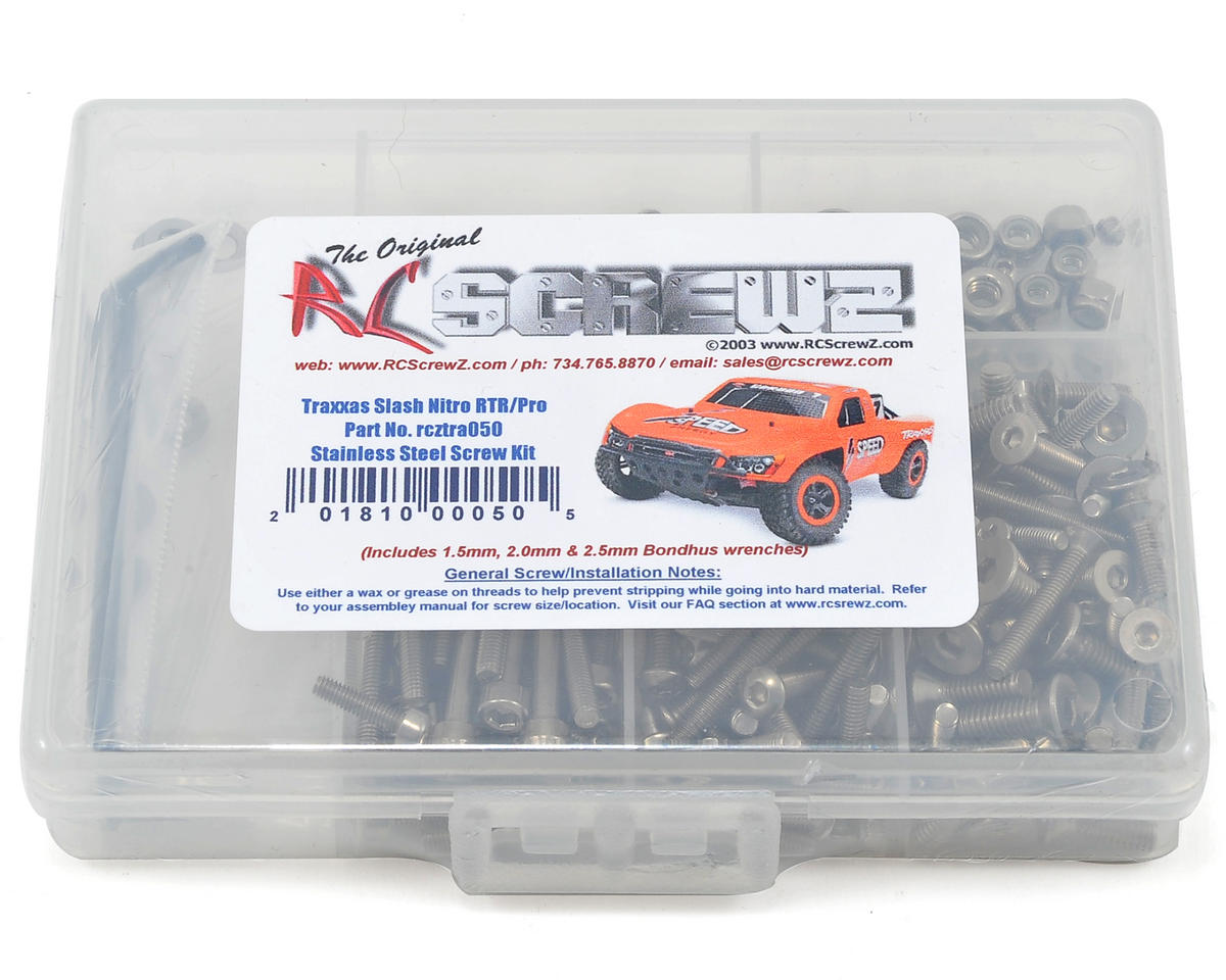 RC Screwz Traxxas Nitro Slash 3.3 Stainless Steel Screw Kit