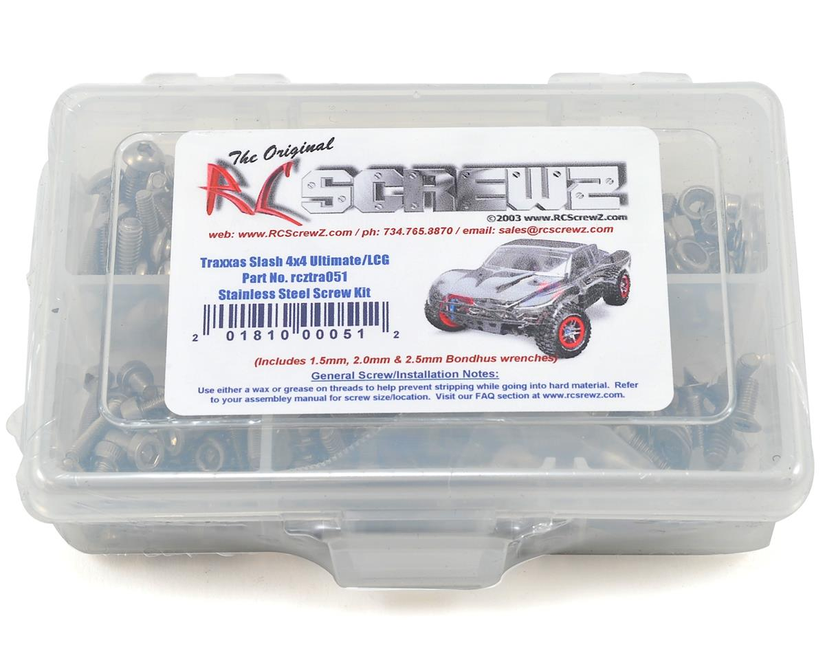 Traxxas Slash 4x4 Ultimate/LCG Stainless Steel Screw Kit by RC Screwz